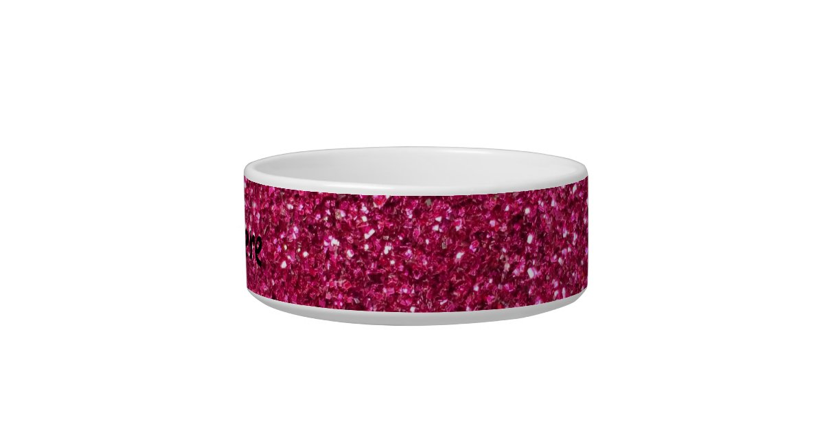 Pink glitter bowl zazzle for Glitter bowl