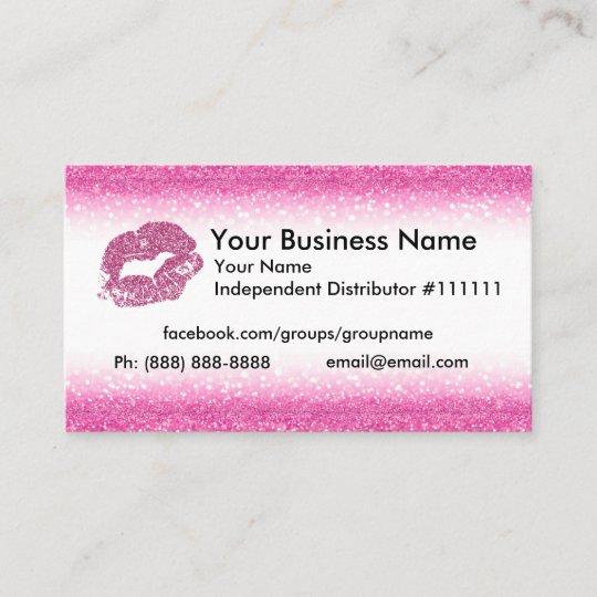 Pink glitter business card zazzle pink glitter business card colourmoves