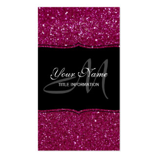 Pink Glitter Double-Sided Standard Business Cards (Pack Of 100)