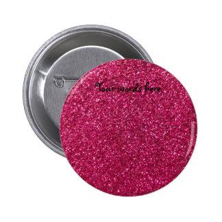 Pink glitter button