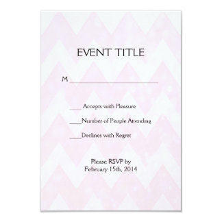 Pink Glitter Chevron Pattern Card