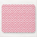 Pink Glitter Chevron Sparkle Shimmer Mouse Pad