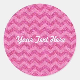 pink glitter chevron sparkles sticker