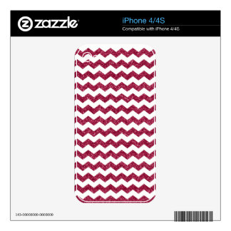 Pink glitter chevrons decals for iPhone 4S