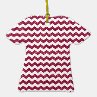Pink glitter chevrons Double-Sided T-Shirt ceramic christmas ornament