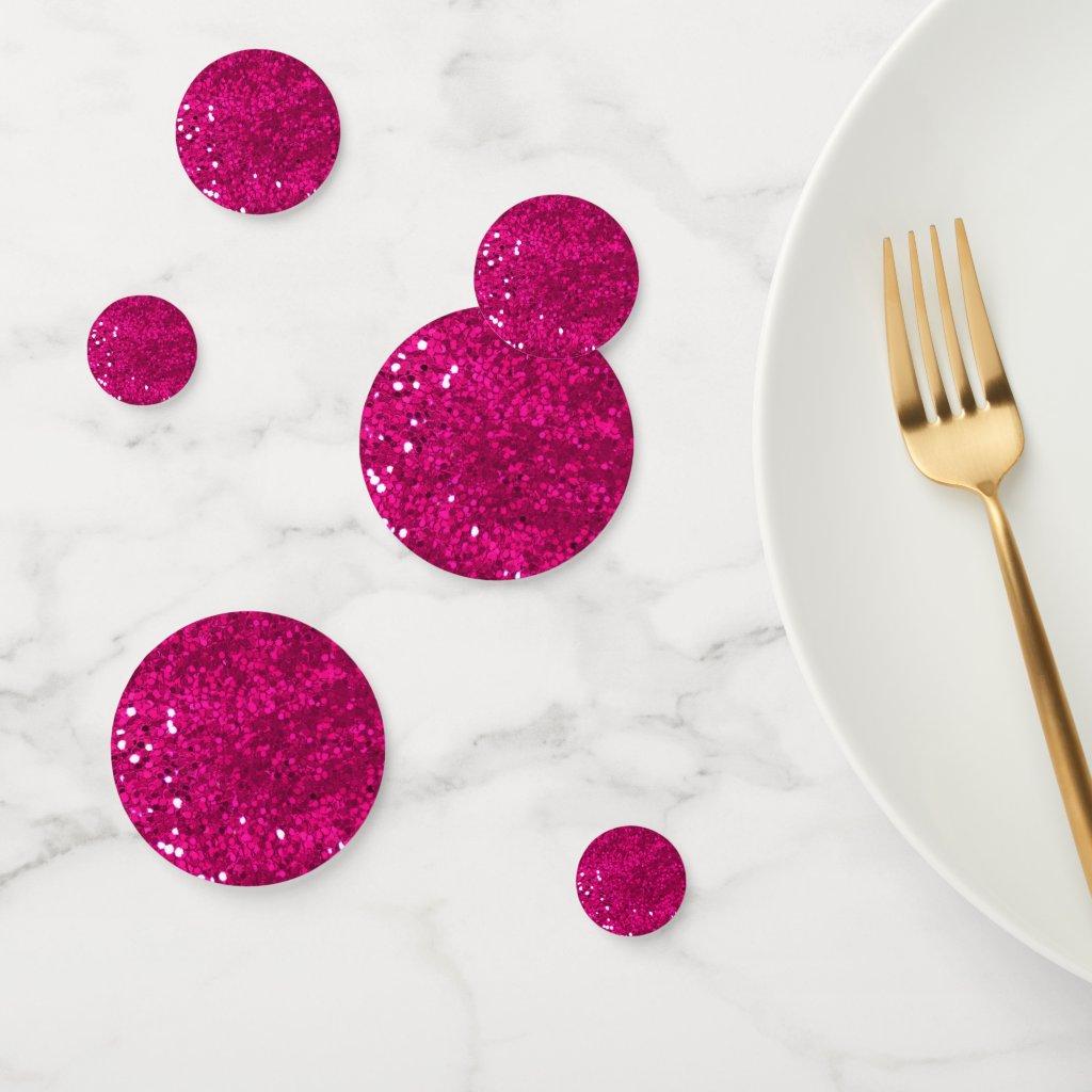 Pink Glitter Confetti