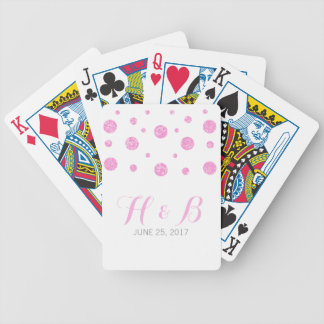 Pink Glitter Confetti Playing Cards