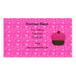 Pink glitter cupcake pink hearts business card templates