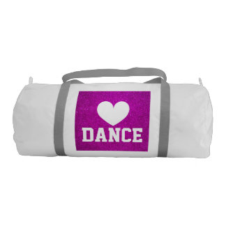 Pink glitter dance duffle bags for women and girls