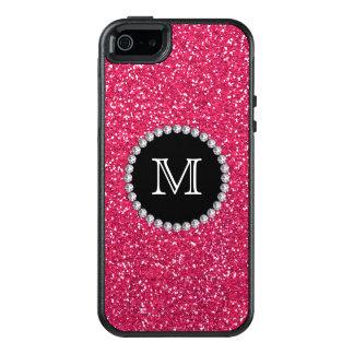 Pink Glitter, Diamond, Girly, Monogrammed OtterBox iPhone 5/5s/SE Case