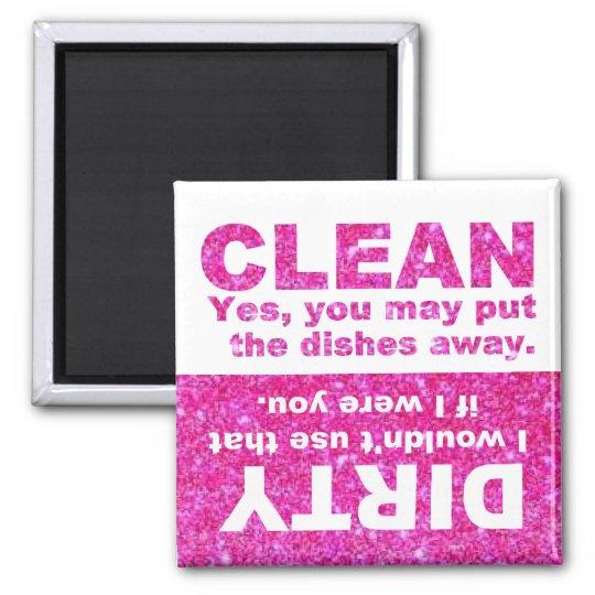 Pink Glitter Dishwasher Magnet