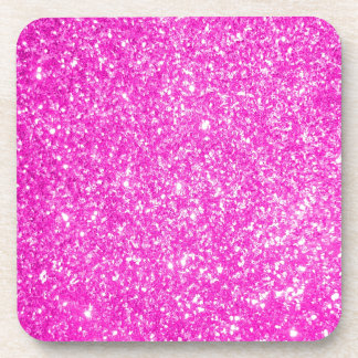Pink Glitter Drink Coaster