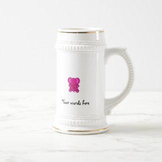 Pink glitter elephant 18 oz beer stein