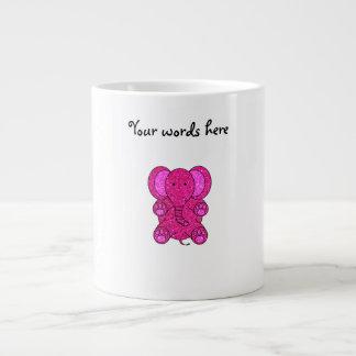 Pink glitter elephant 20 oz large ceramic coffee mug