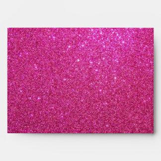 Pink glitter envelope