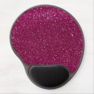Pink Glitter Gel Mouse Pad