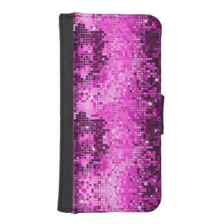 Pink Glitter Geometric Pattern iPhone 5 Wallet Case