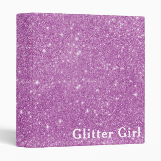 Pink Glitter Girl Show Your Glamours Sparkle Binder