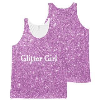 Pink Glitter Girl Show Your Sparkle All-Over-Print Tank Top