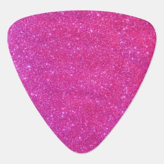 Pink Glitter Glam Girly Sparkly Rock Guitar Pick