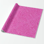 Pink Glitter Glamour Template Elegant Modern Wrapping Paper