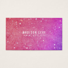 Pink Glitter Hair Salon Stylist Appointment Cards at Zazzle
