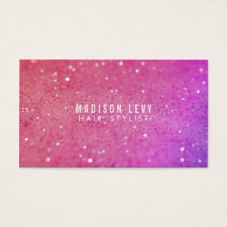Pink Glitter Hair Salon Stylist Appointment Cards