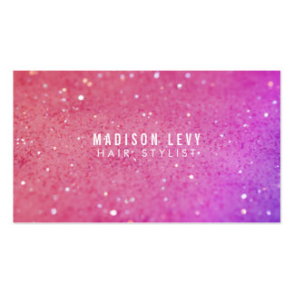 Pink Glitter Hair Salon Stylist Appointment Cards Double-Sided Standard Business Cards (Pack Of 100)