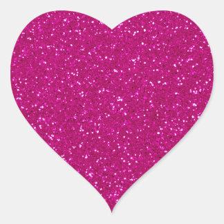 Pink Glitter Heart Sticker