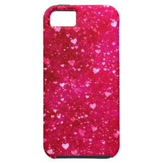 Pink Glitter Hearts Pattern iPhone 5 Covers