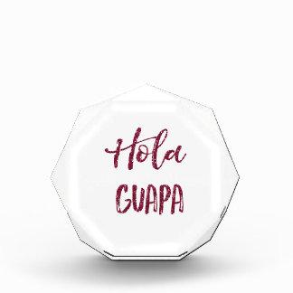 Pink Glitter Hola Guapa Award