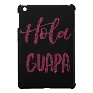 Pink Glitter Hola Guapa iPad Mini Covers
