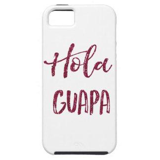 Pink Glitter Hola Guapa iPhone SE/5/5s Case