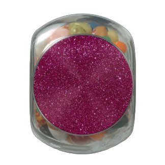 Pink Glitter Jelly Belly Candy Jar