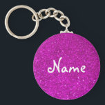 "Pink glitter keychain with faux glimmers<br><div class=""desc"">Pink glitter keychain with faux glimmers. Personalizable name. Cute girly girl gift.</div>"