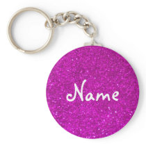 Pink glitter keychain with faux glimmers