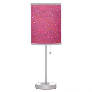 Pink Glitter Lamp