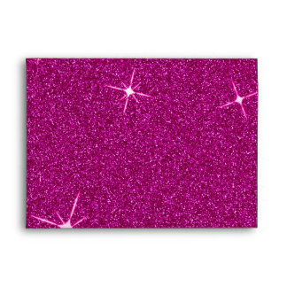 Pink Glitter-Like Birthday Party Envelope