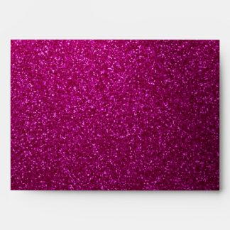 Pink Glitter-Like  Envelope