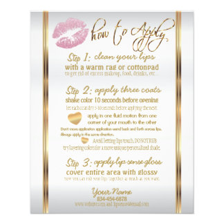 Pink Glitter Lip Instructions 2 Flyer