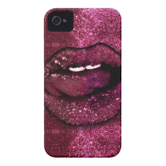 Pink Glitter Lips iPhone 4 Cover