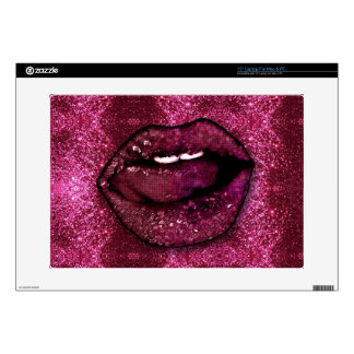 Pink Glitter Lips Skin For Laptop