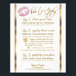 """Pink Glitter &#128139; Lipsense Senegence  Instructions Flyer<br><div class=""""desc"""">Pink Glitter Lips and Elegant Gold Designer Application Instructions Flyer. ⭐⭐ PLEASE READ BEFORE ORDERING ⭐⭐ Look for different size cards and more colors. PLEASE CHECK ALL SPELLING AND THE WORDING BEFORE ORDERING!!! (For matching products and designs type in Keyword: GLITTER LIPS ) (Note: Not real Glitter, This is a...</div>"""