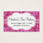 Pink Glitter-Look Fashion Business Card