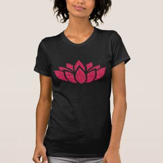Pink Glitter Lotus Flower T-Shirt