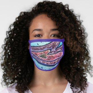 Pink Glitter Love Hearts Art Custom Face Mask