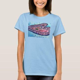 Pink Glitter Love Hearts Art Custom Shirts