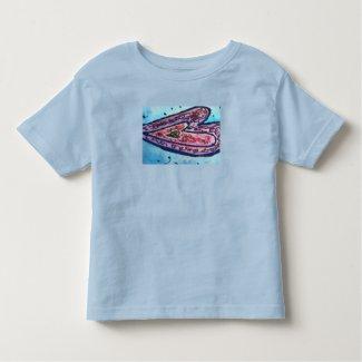 Pink Glitter Love Hearts Art Custom T-Shirt