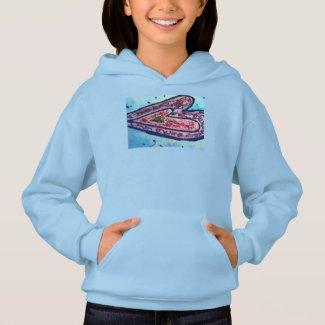 Pink Glitter Love Hearts Art Hoodie Sweatshirt