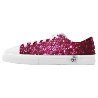 Pink Glitter Low-Top Sneakers